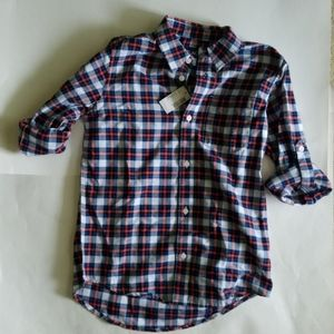 Children's Place Boys Button Up Shirt Size 10/12.